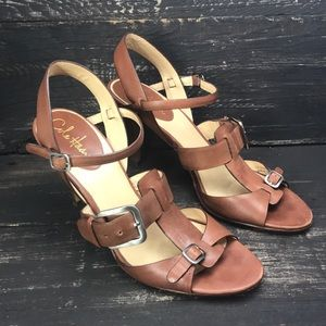 Cole Haan Strappy Leather Heels Size 9B